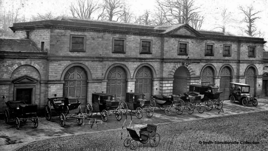 A historic black and white images of the stables at Wentworth Woodhouse.