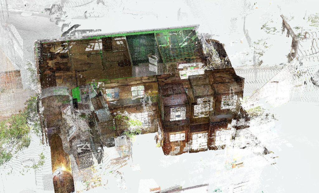 Laser scan of Chance Glass Works by the University of Wolverhampton