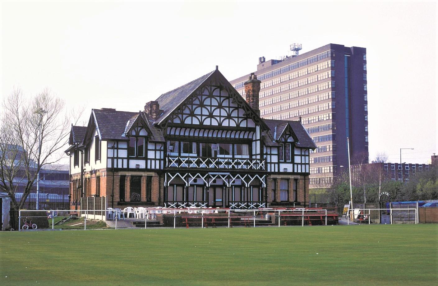 Exterior shot of Old Trafford Bowling Club