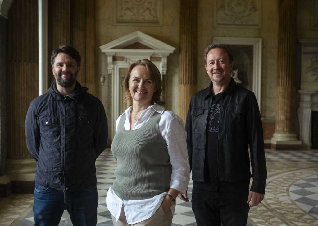 Sarah McLeod, CEO of Wentworth Woodhouse Preservation Trust, is pictured with South Yorkshire film-maker and director James Lockey and Paul Hutchinson, script-reader and screenwriter